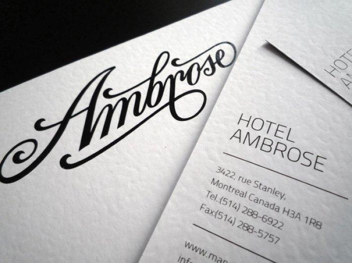 Hotel Ambrose identity 02