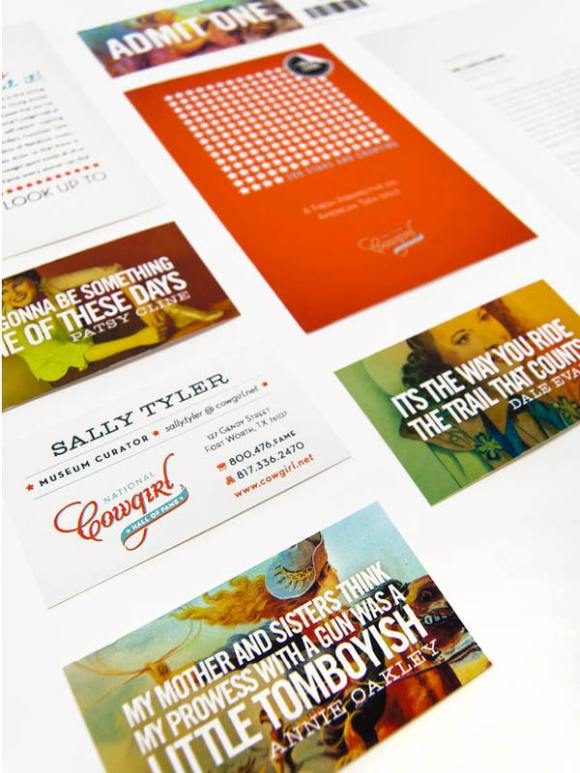 National Cowgirl Hall of Fame brand Identity 02