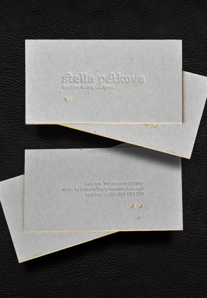 15 Slick Letterpress Business Cards   Branding / Identity / Design
