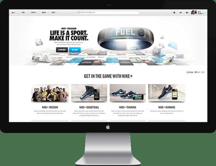 Nike.com web design 01