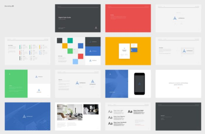 ad branding book style guide templates