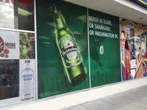 Store window commercial graphics