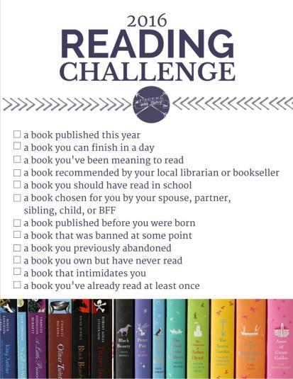 MMD 2016 Reading Challenge