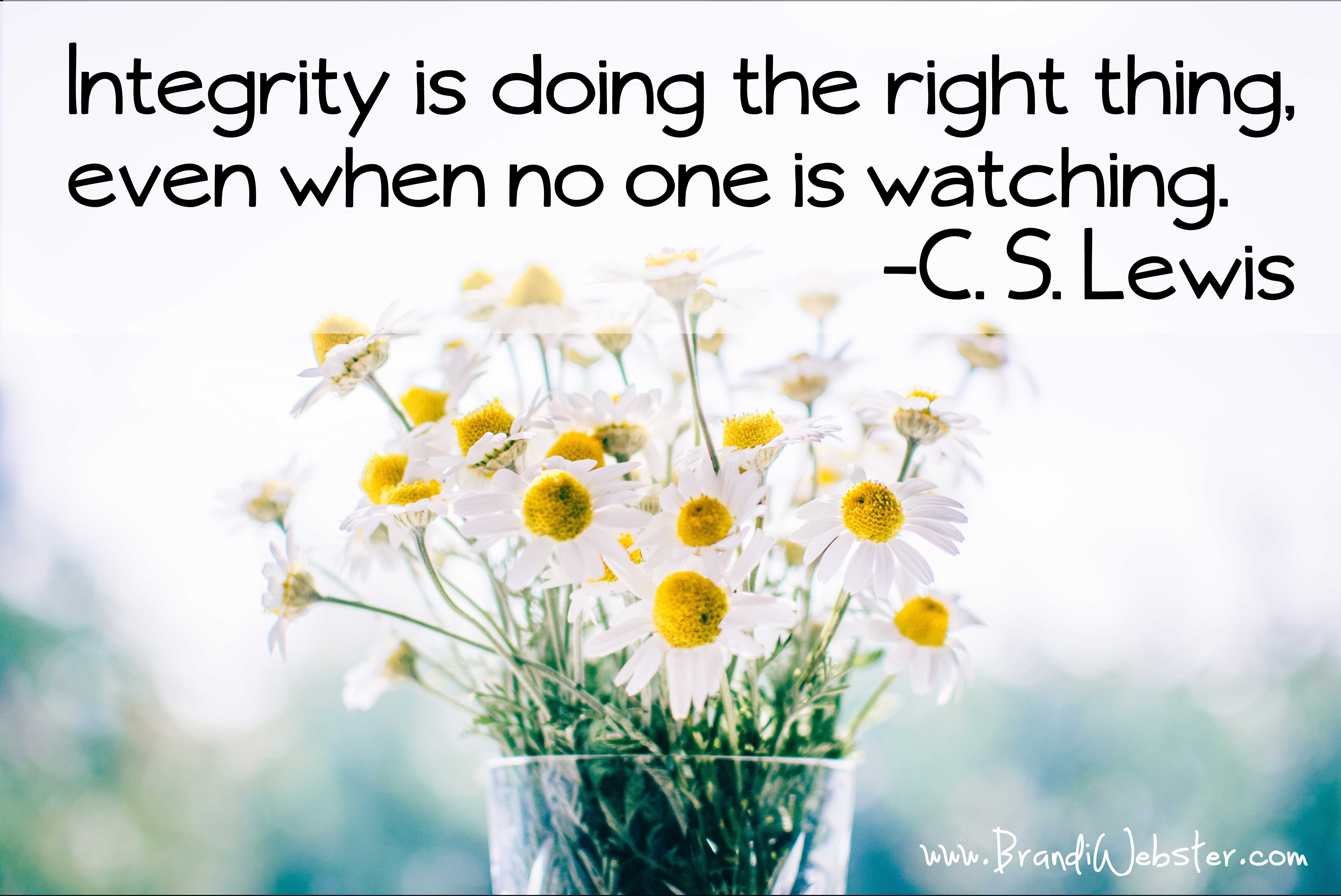 Integrity Truly Matters