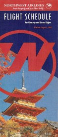 Northwest Airlines Timetable Cover