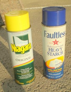 Spray Starch spray cans