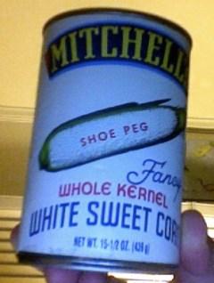 Mitchell's White corn