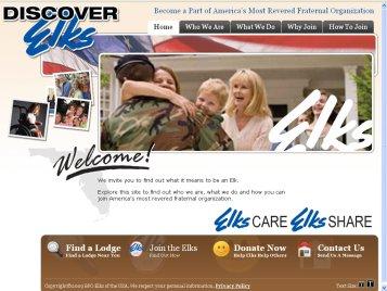 Elks New Website