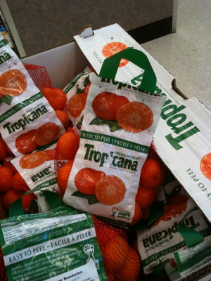 Tropicana orange POP display