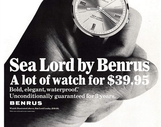 Benrus Watch the Sea Lord