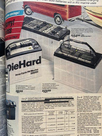 1986 DieHard marine products