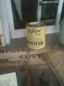 Billups Brand oysters