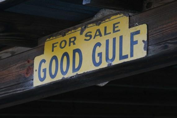Old Gulf signage.