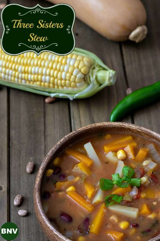 Corn, beans, and squash are full of healthy fiber, protein, vitamins, and minerals - and when combined together become this delicious Three Sisters Stew.