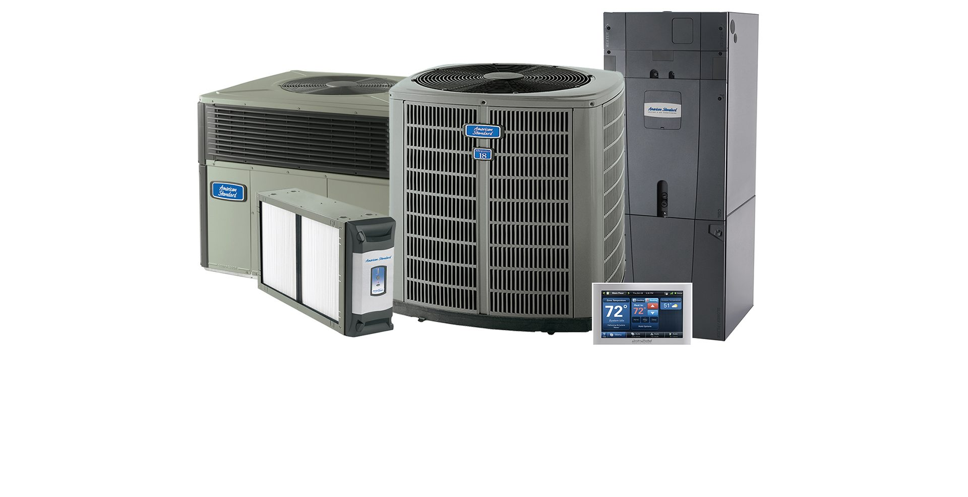 hight resolution of american standard brand of air conditioning equipment dealer hvac equipment family photo