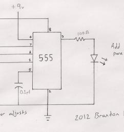 555 blinking led schematic [ 1250 x 641 Pixel ]