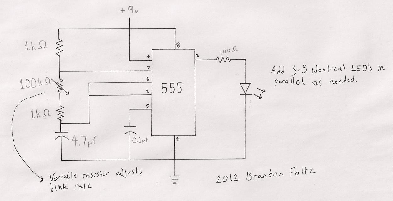 hight resolution of 555 blinking led schematic