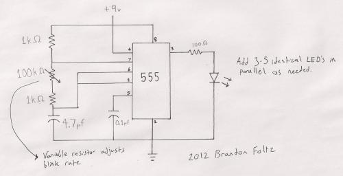 small resolution of 555 blinking led schematic