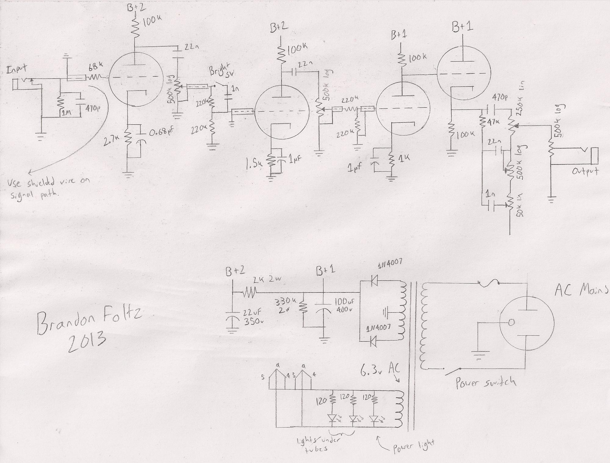 on off switch schematic guitar bright