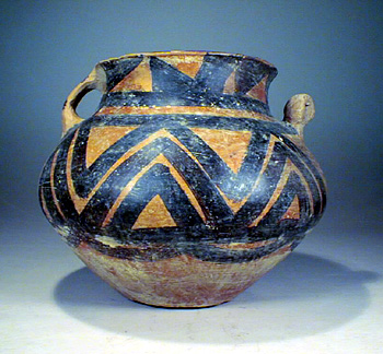 Neolithic painted pottery jar, YangShao culture.