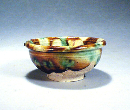 A San-cai small bowl,Tang Dynasty