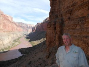 A happy teacher in the Grand Canyon.