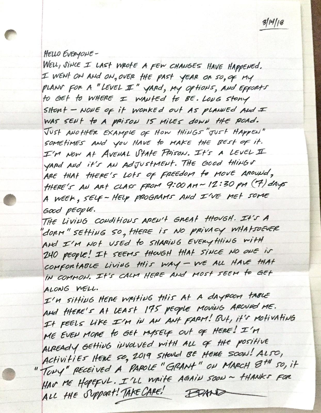 brandons letter march 2018
