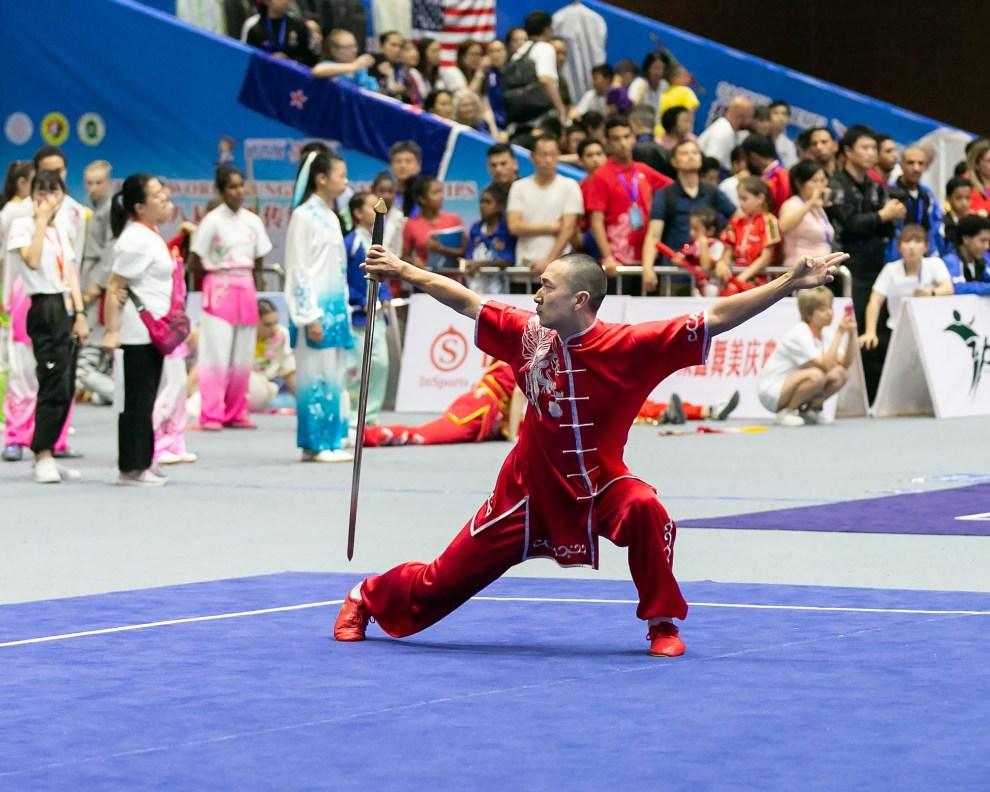 Brandon Sugiyama Shuangshoujian Wushu World Kungfu Championship