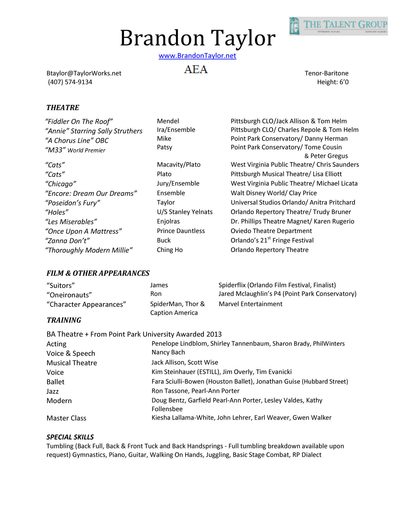 Resume Format For Film Industry Resume Maker Create