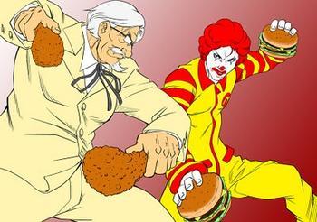 Colonel Sanders vs Ronald McDonald