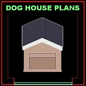 Free dog house floor plans woodworker magazine for Free house plan magazines