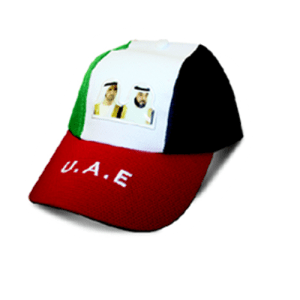 National day flag design of cap with H.H