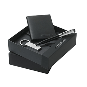 Set of wallet and stainless steel USb and pen