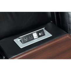 Power Reclining Sofa With Cup Holders Sofas At Coricraft Global Furniture Gprs9650u-blk Excalibur Black ...