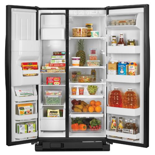 Amana ASD2575BRB 255 CuFt Side By Side Refrigerator
