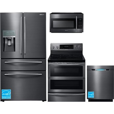 Samsung RF28JBEDBSG Black Stainless Steel Complete Kitchen