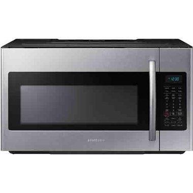 1 8 cuft 1000 watt over the range microwave in fingerprint resistant stainless steel