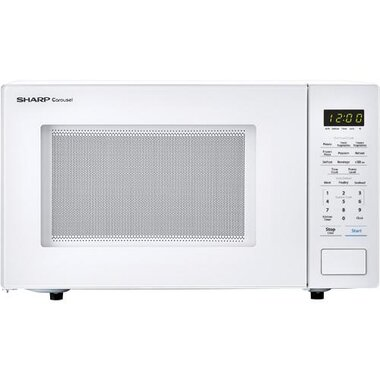1 1 cuft carousel series 1000 watt white countertop microwave oven