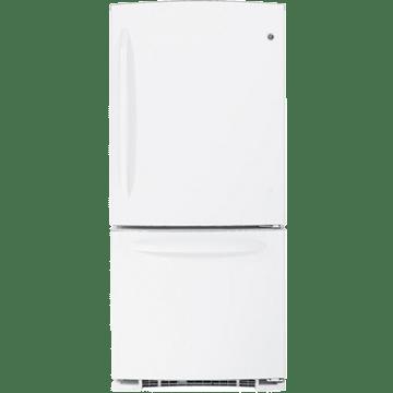 GE GBSC0HCXWW Bottom Freezer Refrigerator, 20.3 CuFt Total
