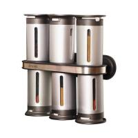 Zevro MSR800 8 Piece Magnetic Wall Mounted Spice Rack