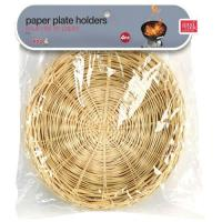 Good Cook 21970 Bamboo Paper Plate Holder, Made of Bamboo ...