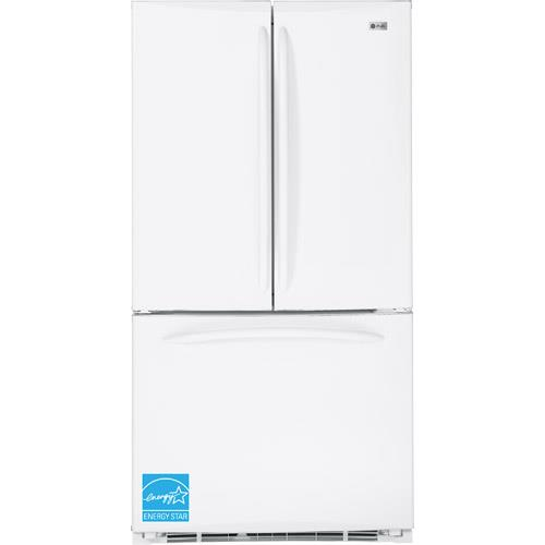 GE PFCF1NFYWW 20.8 CuFt White 3 Door Counter Depth French