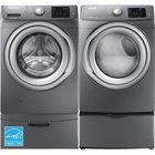 Samsung - 4.2 CuFt Top Load Washer With 7.5 CuFt Front Load Electric Dryer