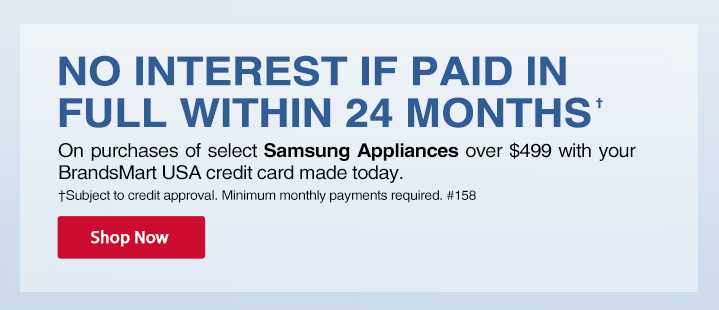 kitchen appliances pay monthly glass cabinet promotional financing brandsmart usa