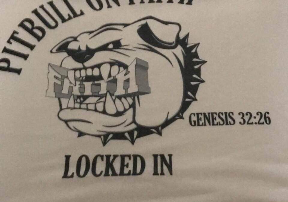 Pitbull on Faith- Locked In T-Shirt Design