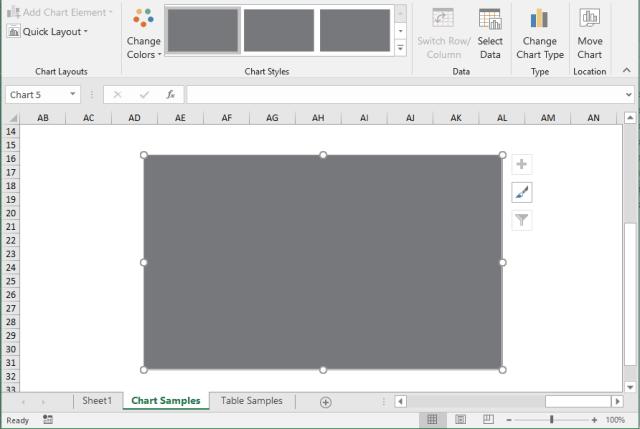 Excel Insert Chart Problem