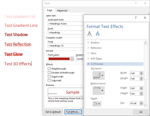 Text Effects: Bad in PDFS