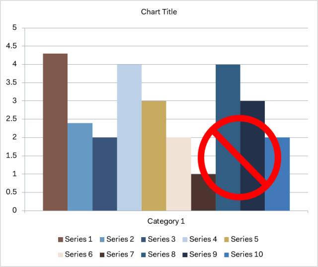 Chart template colors as created by Office