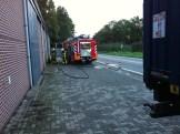 Vrachtwagen brand Roost