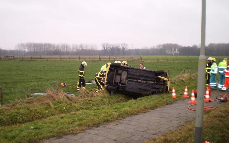 Technische bevrijding bij ongeval Kelperweg Leveroy